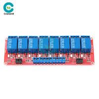 DC 5V/12V/24V 8 Channel 8CH Optocoupler Isolation Relay Module High/Low Trigger