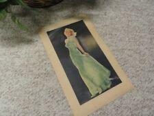 Madeleine Carroll Autographed Lobby Card 1937 Autolite Shirley Temple Detroit Mi