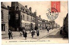 CPA 50 - PONTORSON (Manche) - 4. L'Ancien Hôtel des Montgomery et la Grande Rue