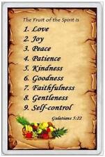 JUMBO FRIDGE MAGNET - FRUIT OF THE SPIRIT - BIBLE JESUS CHRISTIAN GOD JEHOVAH
