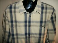 Men's Wrangler Long Sleeve Button Down Metal Snap Western Shirt Size XXL 2XL