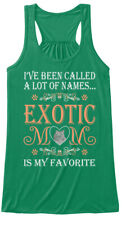 Exotic Cat Mom Is My Favorite Name Pets Bella Flowy Tank Tanktop