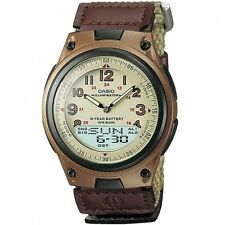 Casio Men's Digital & Analogue Watch, Brown, AW-80V-5BVDF