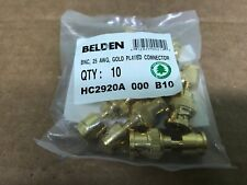 Belden BNC , 25 AWG, Gold Plated Connector BAG OF 10 HC2920A