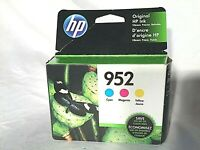 HP 952 3 Ink Cartridges Cyan Magenta Yellow L0S49AN, L0S52AN, L0S55AN Exp 05/21