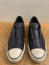 Converse John Varvatos Navy Blue Leather Slip On Sneaker 156705C Men's Sz 8.5