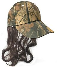 a18c8dcd Camo Redneck Mullet Hat with Hair - Men's Hillbilly Halloween Costume Prop  Wig