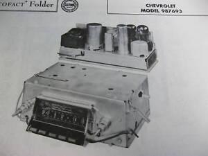 1957 CHEVROLET 987693 RADIO PHOTOFACT