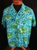 VINTAGE LATE 1950'S SILKY RAYON  HAWAIIAN PRINT SHIRT