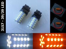 Type 1, 3157 3757 3457 4057 3047 3357 dual color 39/39 led light bulb + Resistor