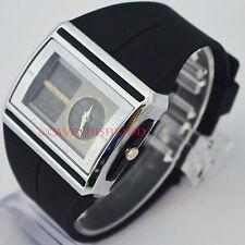 OHSEN Digital Analog Dual Momen Black Rubber Light AL Luxury Sports WristWatches