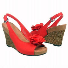 Aerosoles Sweet Plush Lily wedge sandals RED 10 Med NEW