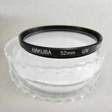 52mm Hakuba UV Lens Filter w/case