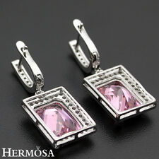 75% OFF Beautiful Royal Pink Kunzite Topaz 925 Sterling Silver Lady Earrings