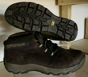 CAT CATERPILLAR MENS BOOTS DISRUPT LEATHER CASUAL CUSHIONED BROWN UK 8 US 9