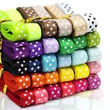 "60 Yard 3/8"" Dot Grosgrain Ribbons for DIY Bowknot Hair Ornaments Gift Packaging"