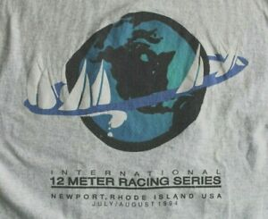 International 12 Meter Yacht Racing Series Newport RI T-Shirt 1994 Excellent XL