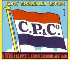 "SALE- Vintage Tasmania Apple Case Labels Fruit Art Poster ""bakers dozen-F"" (13)"