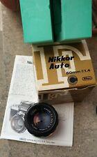 Nikon Nikkor obiettivo 50 mm. f/1.4 AI'D manuale perfetto VG+++ istruzioni e box