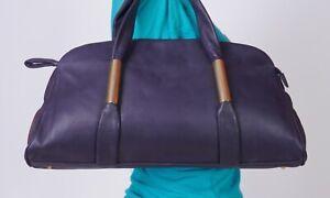ALEXANDRIA Medium  Black Leather Shoulder Hobo Tote Satchel Purse Bag