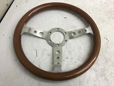 JDM  MOMO SUPER INDY WOOD STEERING WHEEL OEM #09