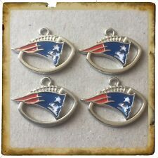 🇺🇸 NFL Lot Of 4 New England Patriots Enamel Charms / Brand New #2