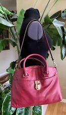 Calvin Klein Merlot Shoulder Bag Large Leather Burgundy