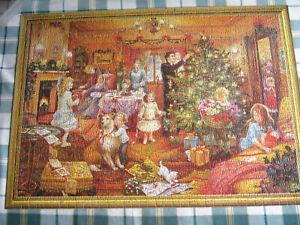Waddington NEARLY CHRISTMAS 1000 piece Double Sided Jigsaw COMPLETE
