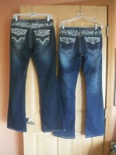 Soundgirl size 7, 2-pair of jeans 1-pair LN, 1-pair EUC, Embellished, boot/flare