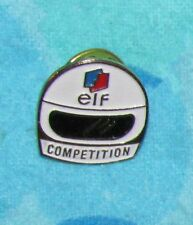 Vintage kleine Pin Rennen Auto Pilote Helm ELF Wettbewerb