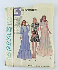 New ListingVintage McCalls 4381 Womens Dress Sewing Pattern 1974 Sz 12 14 16 Uncut