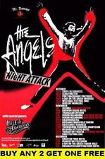 THE ANGELS Night Attack Laminated Australian Tour Poster