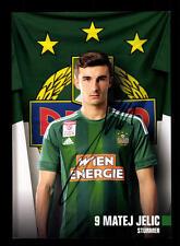 Matej Jelic Autogrammkarte Rapid Wien 2016-17 Original Signiert+A 144560