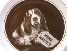 "1982 Royal Cornwall- Puppy's World series ""Need A Friend"" Collector Plate Dog"