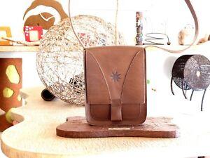 BORSA borsello uomo donna vera pelle cuoio tracolla fatta a mano!! Marrone 1811
