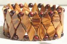 "Armband aus handgefertigtem Olivenholz ""3339"" Schmuck Natur Holz NEU"