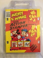 Vintage 1992 Colorforms Mickey Minnie Travel Action Stamper New In Package