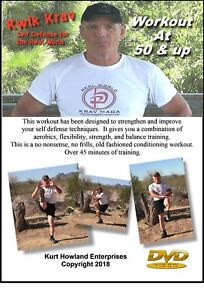"""""""KRAV MAGA WORKOUT at 50 Years old & up DVD"""" A 3 Day Per Week Exercise Routine."""