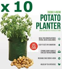 10 x Potato Tomato Bag Planter Grow Your Own Sack Spud Tub Patio Potatoes Garden