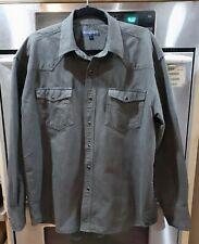 Roper Black Pearl Snap Button Western Shirt Mens~Size Large~Dark Gray