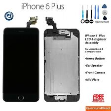 NEW iPhone 6 Plus Retina LCD Digitiser Touch Screen Complete with Parts - BLACK