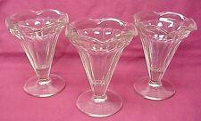 Vintage Footed Ice Cream Sundae Sherbet Glasses Set of 3