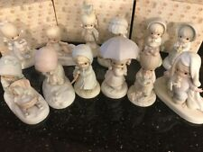 PRECIOUS MOMENTS 1987 MONTH SERIES COMPLETE SET OF 12 FIGURINES W/BOXES & COAS