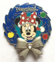Disney Pin Badge Disneyland Diamond Wreath - Minnie Mouse
