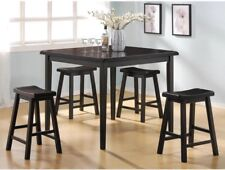 ACME Furniture Gaucho 5 Piece Counter Height Dining Set, Black