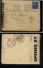 Great  Britain   censor cover to Chile postage due ?     KL0225