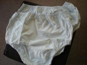 Plastic Adult Waterproof Pants - 2 pack - Various Sizes