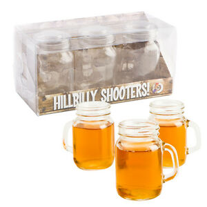 Xmas Hillbilly Shooters Set of 3 Glass Drinking Novelty Bar Kitchen Decor Gift