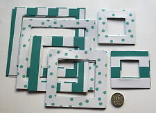 NO 024 Scrapbooking - 18 Light Weight Card Photo / Picture Frames - Scrapbook