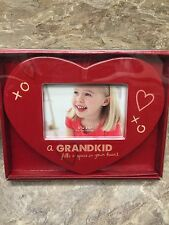"St. Nicholas Grandkid Fills Your Heart Ceramic Picture Frame 4"" x 6"" NEW Gift"